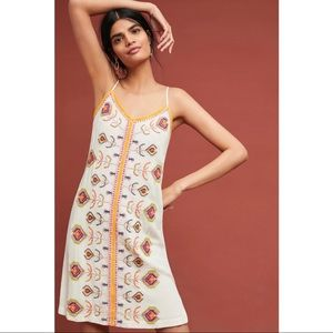 Akemi + Kin Embroidered Slip Dress